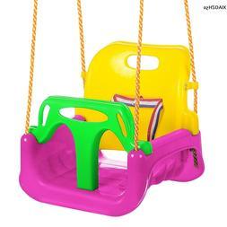 3 In 1 Toddler Baby Bucket Swing Infant Playground Heavy Dut