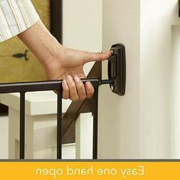 Stork Craft Easy Walk-Thru Tall Metal Safety Gate, Black