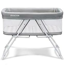 MiClassic All mesh 2in1 Stationary & Rock Bassinet One-Secon