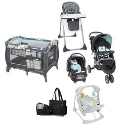 Baby Boy Deluxe Combo Travel Set Stroller with Car Seat Play