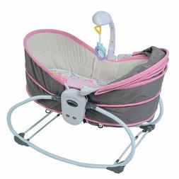 Baby Cradle Swing Bed Comfy Nursery Bouncer Toddler Infant G