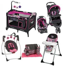 Baby Girl Combo Playard Swing Chair Bag Set Stroller with Ca