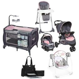 Baby Girl Walk Out Combo Travel System Stroller Car Seat Swi