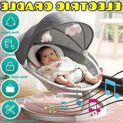 Baby Infant Swing Rocker Compact Cradle Toddler Seat 5 Speed
