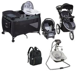 Baby Jogger Stroller with Car Seat Combo Playard Swing Bag I