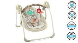 BABY PORTABLE SWING Ingenuity Soothe n Delight Cozy Kingdom