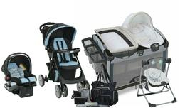 Baby Stroller Travel System with Car Seat Playard Swing Diap