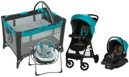 Baby Stroller Travel System Combo with Car Seat Glider Swing