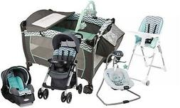 Baby Stroller Travel System with Car Seat Infant Playard Swi