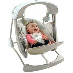 Baby Swing Chair 6 Speed Rocker Seat Toddler Bouncer Portabl