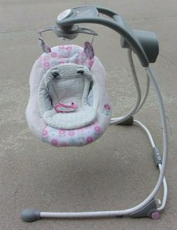 Ingenuity Baby Swing Hooks up to your phone for monitoring