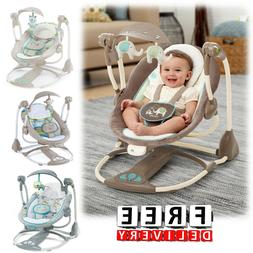 Baby Swings For Girls Boys Portable Infant Music Vibration C