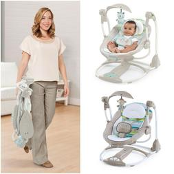 Baby Swings For Girls Boys Portable Music Vibration Converts