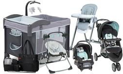 Baby Stroller with Car Seat Travel System  Swing High Chair