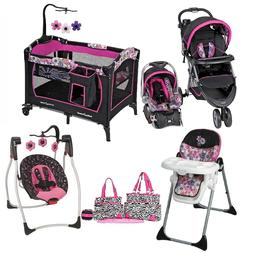 Combo Baby Stroller with Car Seat Playard Swing Diaper Bag H