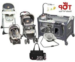 Combo Travel System Baby Swing Stroller with Car Seat Nurser