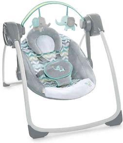 Ingenuity Comfort 2 Go Portable Swing Jungle Journey in Grey
