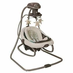 Graco Duet Soothe Swing Rocker Winslet, Light Beige/Light Gr