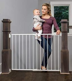 Regalo Extra Wide 2-in-1 Stairway and Hallway Safety Gate wi