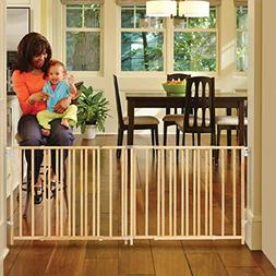 North States Extra-Wide Swing Baby Gate Perfect for Oversize