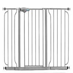 Regalo Extra-Wide Walk-Through Baby Safety Gate: Platinum