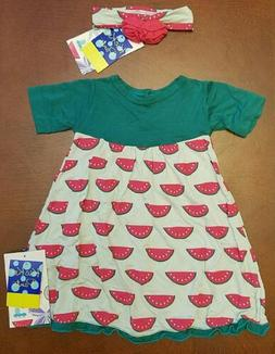 Kickee Pants Infant Girl Watermelon Swing Dress & Headband 6