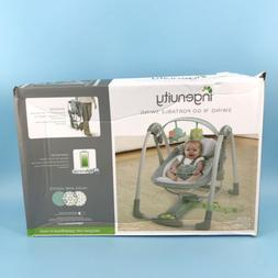 Ingenuity Swing 'n Go Portable Baby Swing - Hugs & Hoots for