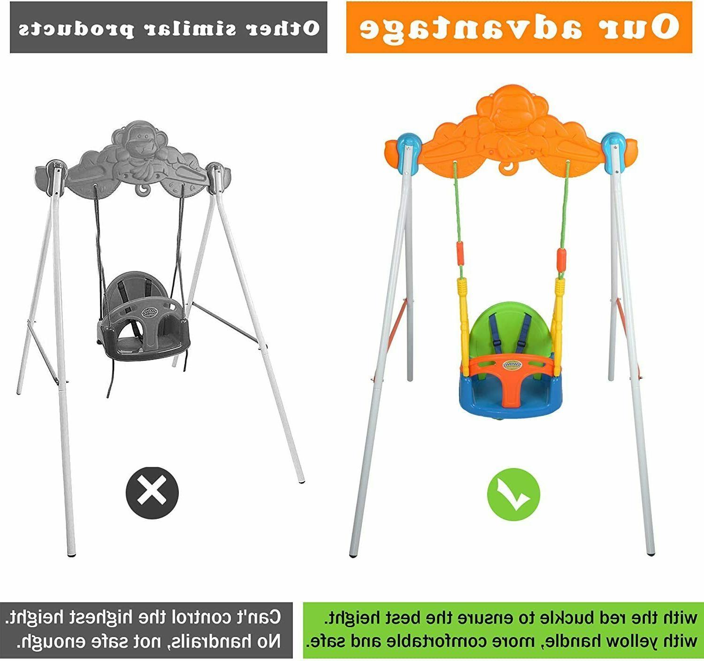 VILOBOS 3 Baby Swing Infant Safety Playset Kids Toys
