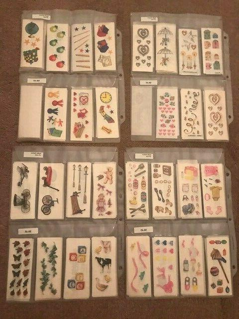 40 cents sticker strips vintage rare htf