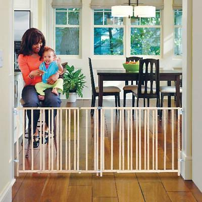 60-103 Inch Swing Baby & Dog Pet Safety Fence Large Gate Nat