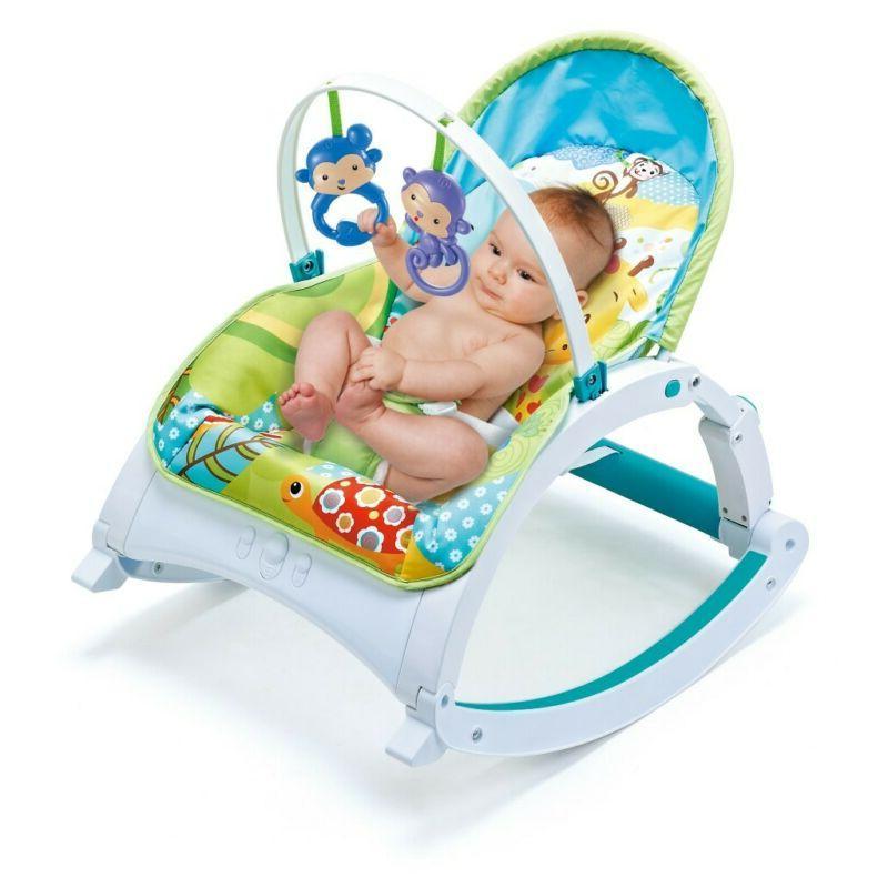 Baby Bouncer Swing Rocker W/ Sounds Cradle Chair