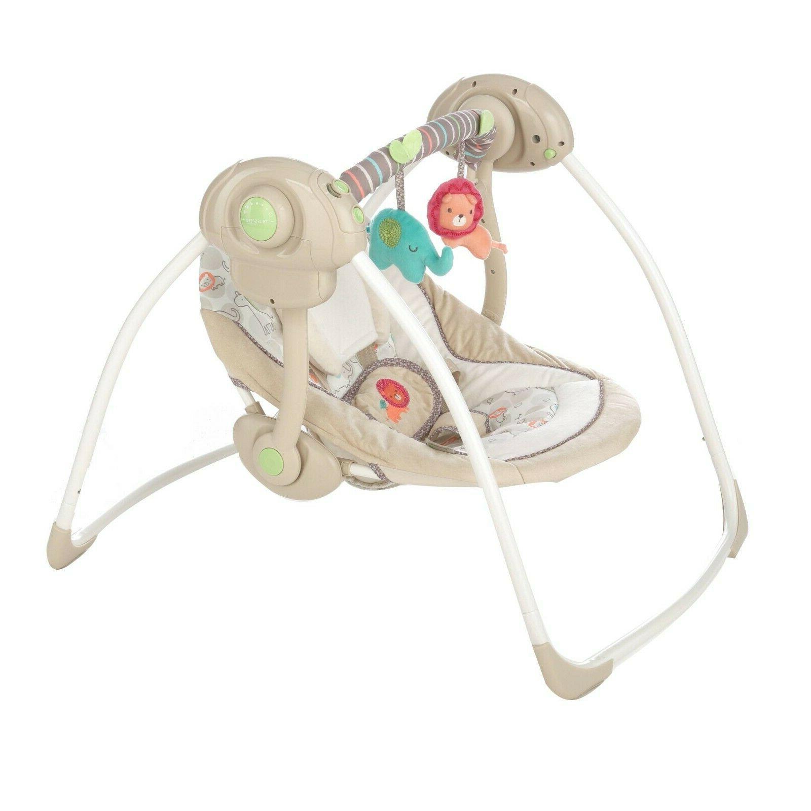 Baby Bouncer Rocker Portable Electric W/ Sounds Infant
