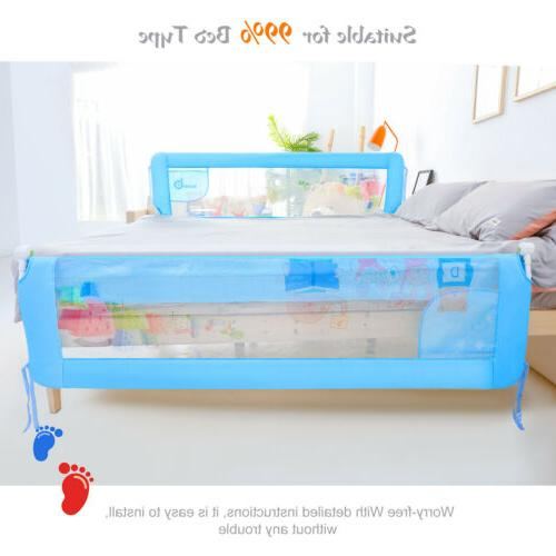 Baby Bed Rail Sturdy Durable Swing Down Wall