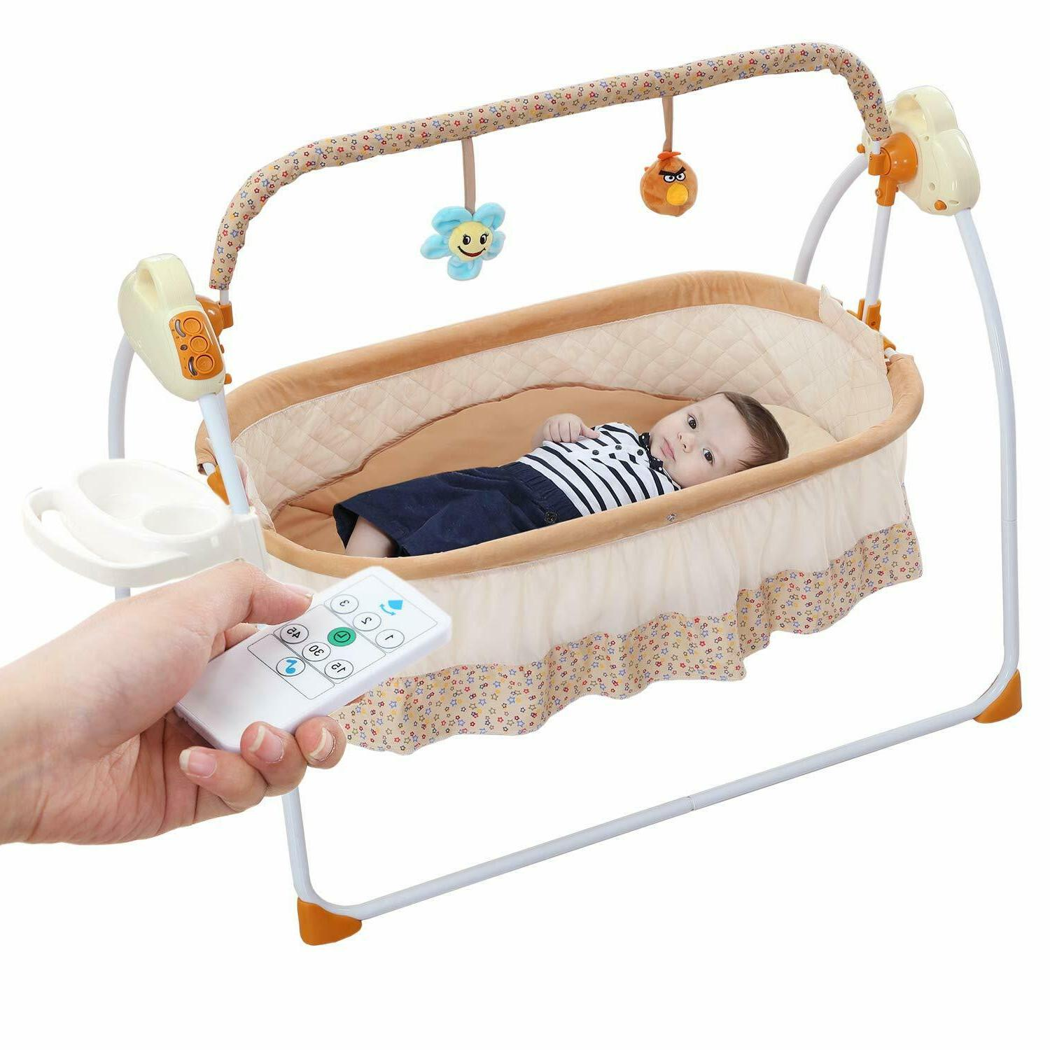 Baby Cradle Swing,Automatic Baby Bassinets Crib Baby
