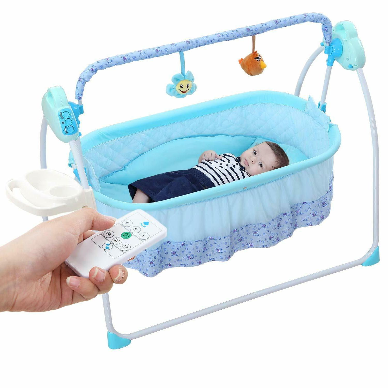 Baby Bassinets Swing Crib for Baby w/ Music