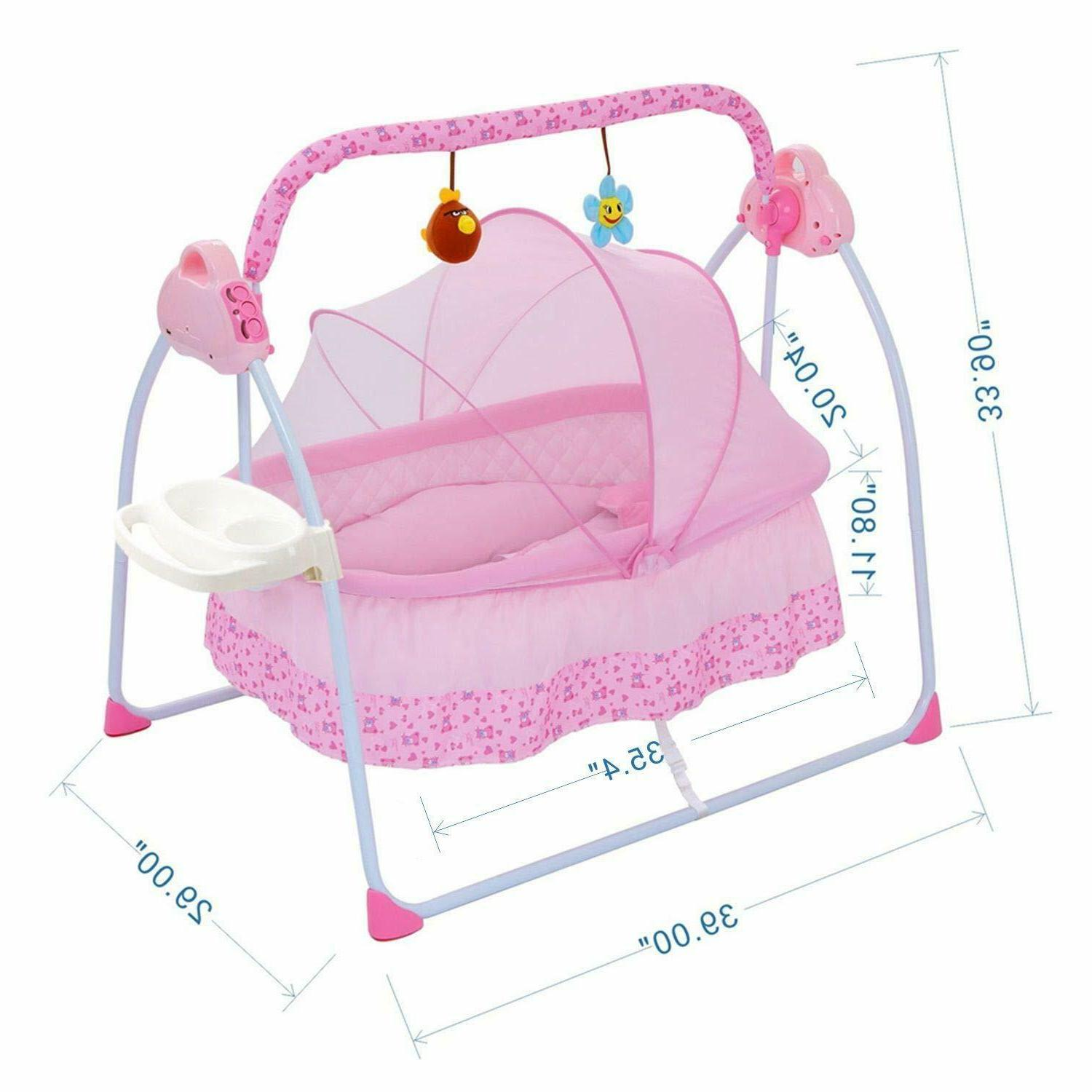 Baby Swing,Automatic Bassinets Swing Baby Girl Music