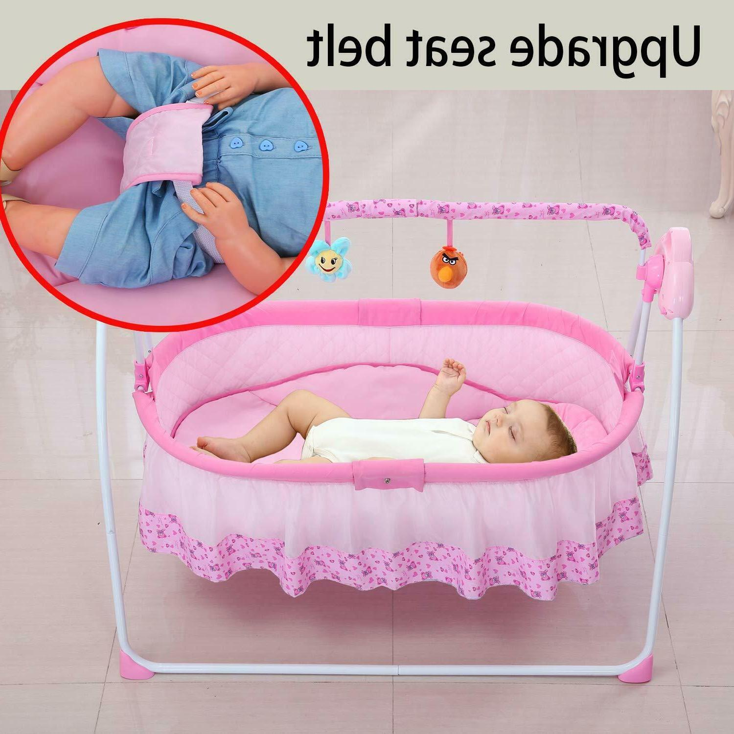 Baby Swing,Automatic Baby Bassinets Baby Boy w/ Music