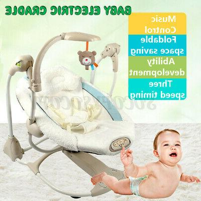 baby electric auto swing infant portable cradle