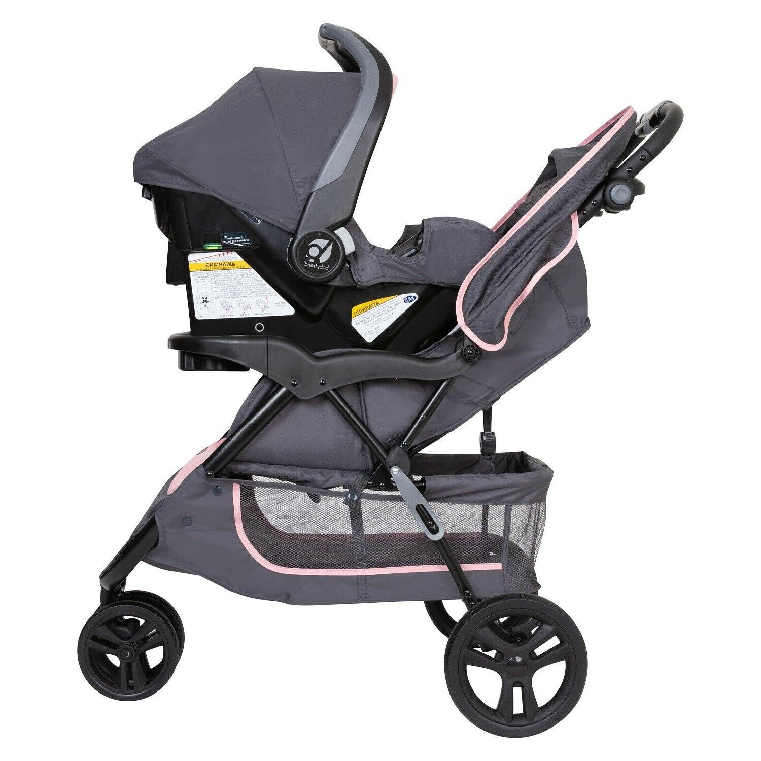 Baby Girl Combo with Car Swing Travel System Set