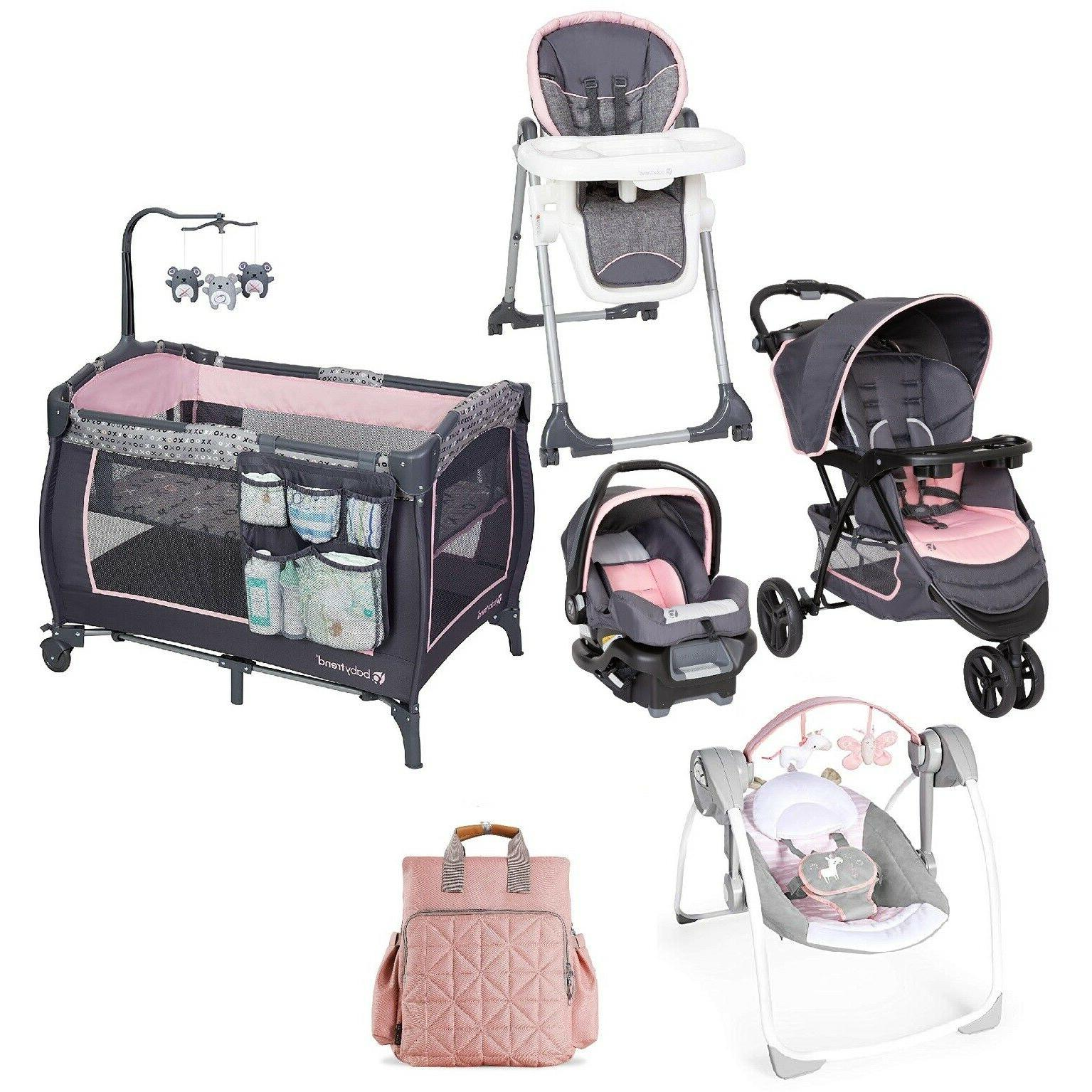 baby girl combo stroller with car seat