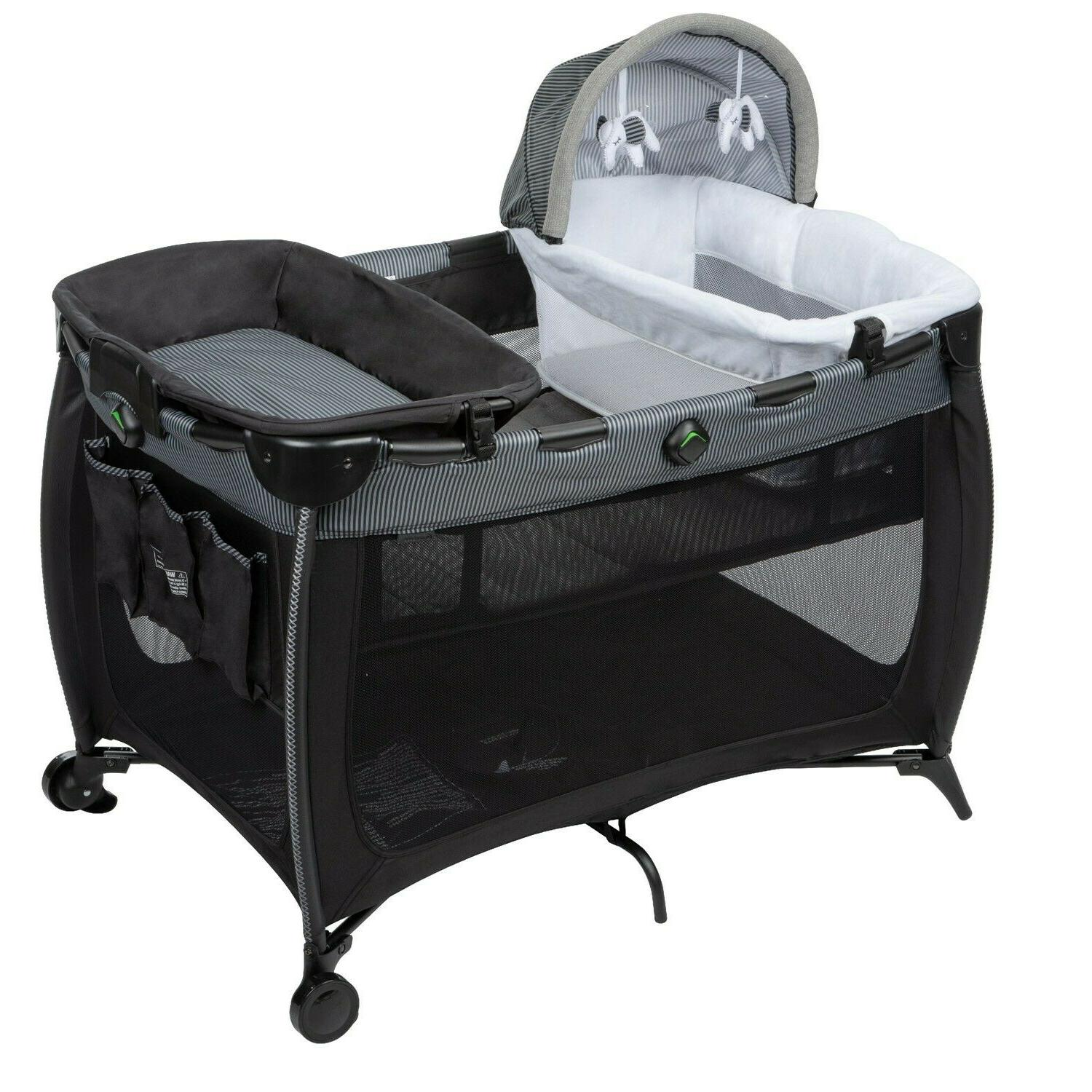 Baby Stroller Travel with High Chair Swing Black