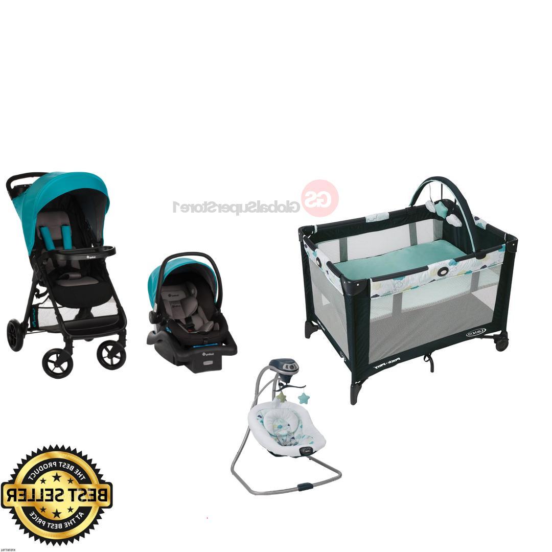 Baby Boy Girl Twins Combo Set Nursery Center Double Stroller 2 Car