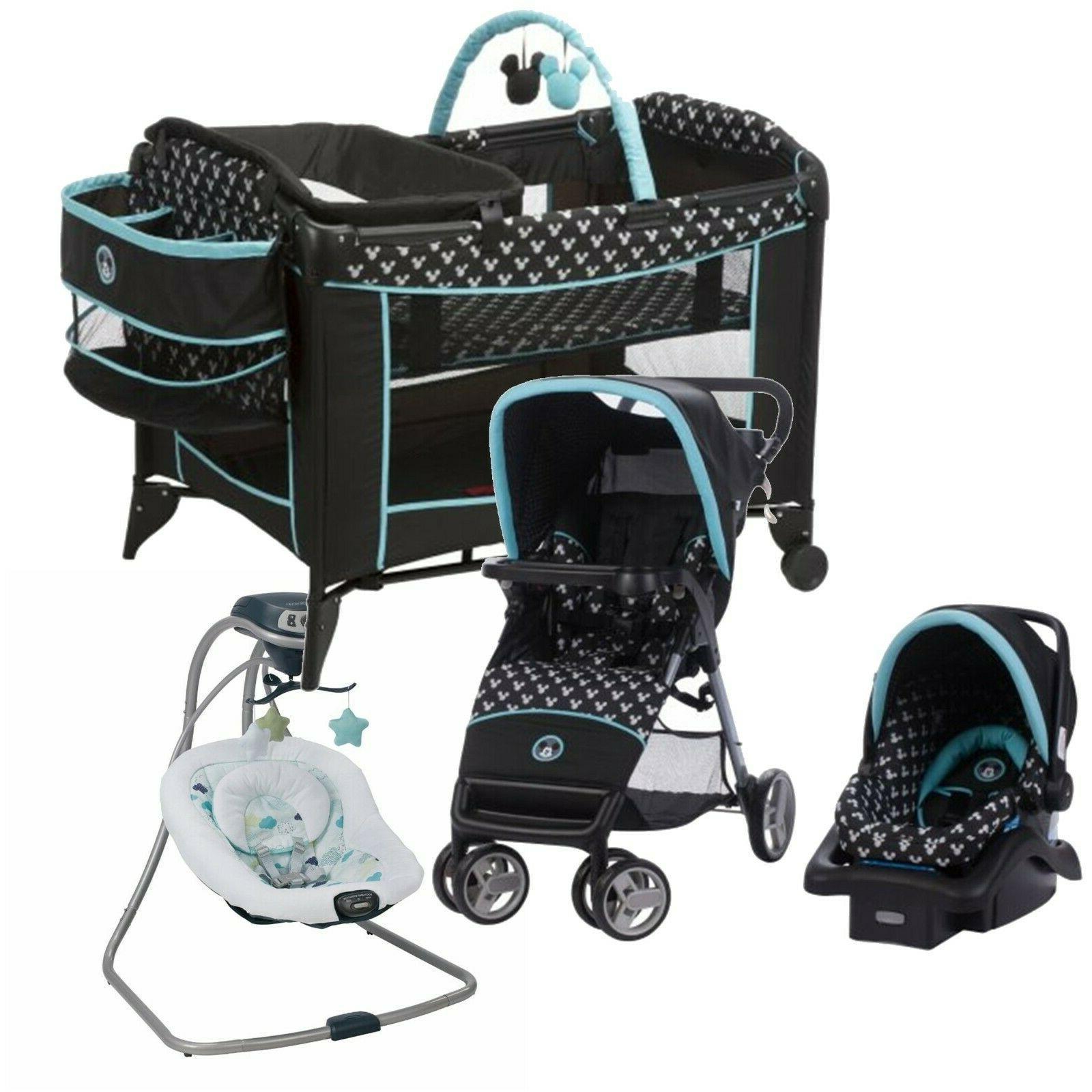 Disney Baby Car Seat Travel Diaper Bag Combo