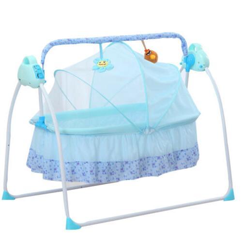 Baby Cradle Swing Baby Boy Girl Automatic Bassinets Swing Cr