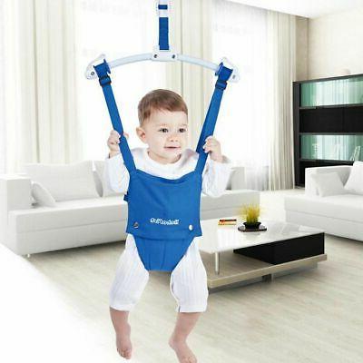 Children's simulator to jump and swing
