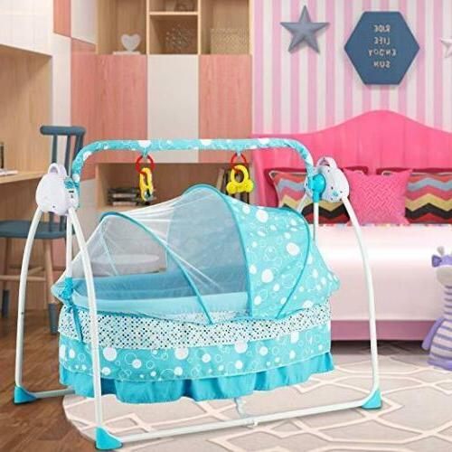 Electric Cradle Speed Safe Crib Infant Mat RC Blue