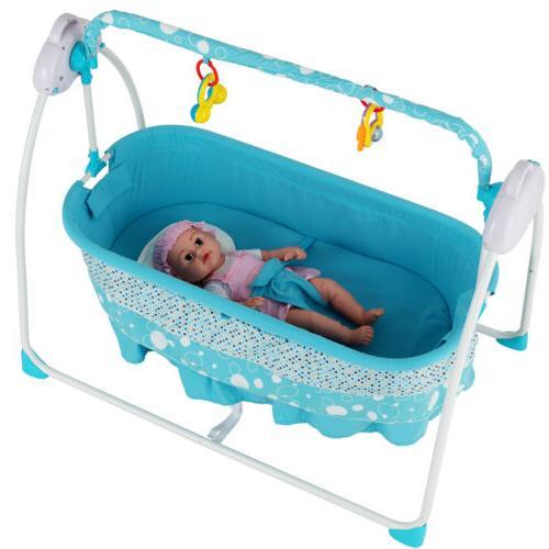 Electric Baby Swing Cradle Crib Infant Mat