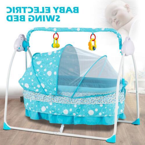 electric baby auto swing cradle 5 speed