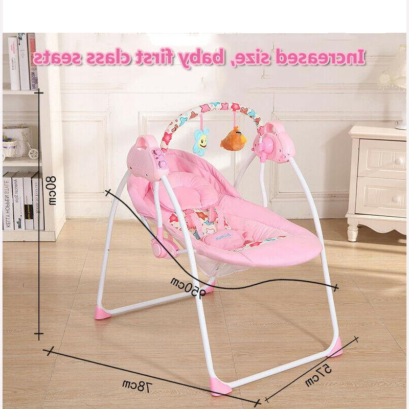 Electric Baby Cradle Swing Sleeping Rocking Bassinet Foldable