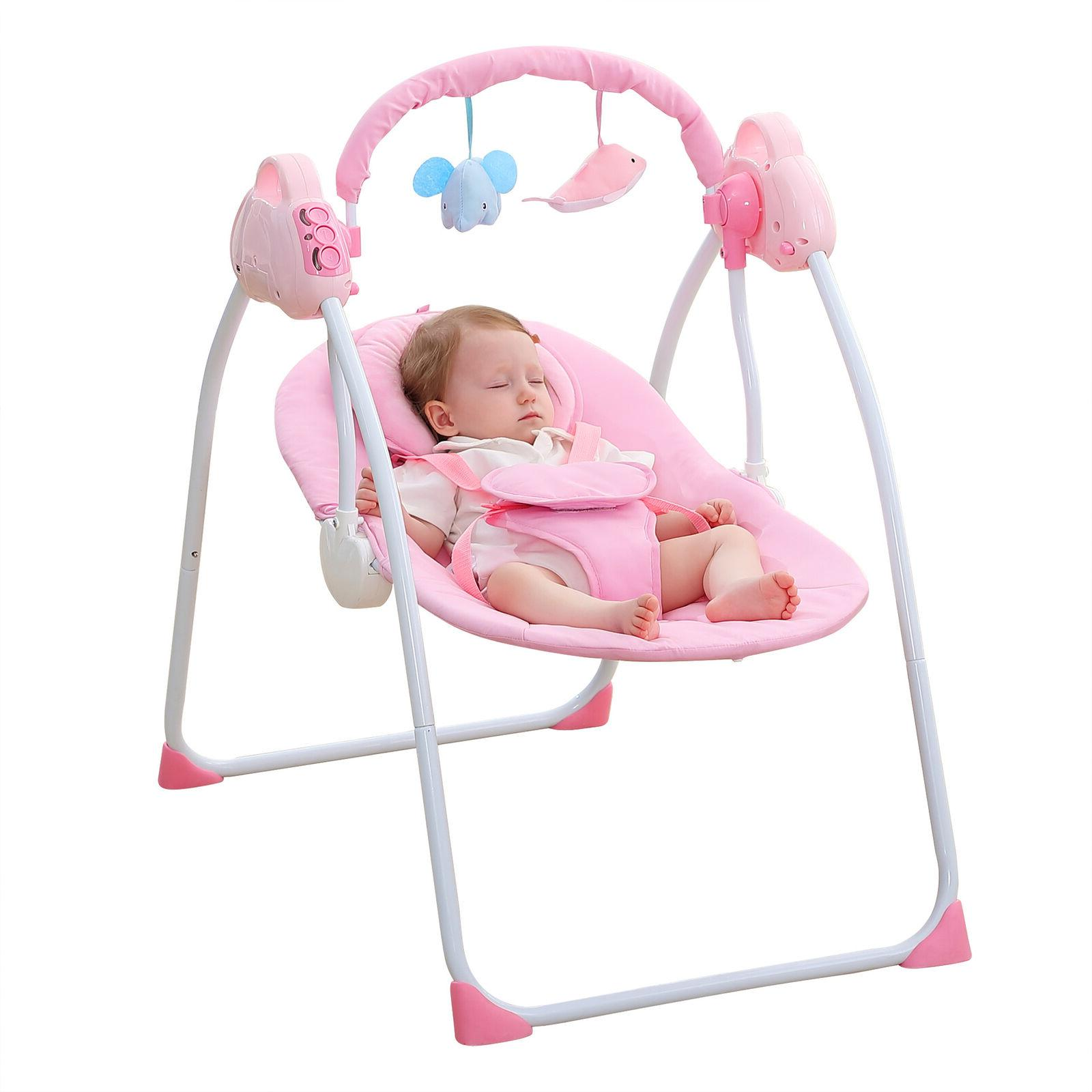 Electric Baby Sleeping Bassinet Foldable NEW